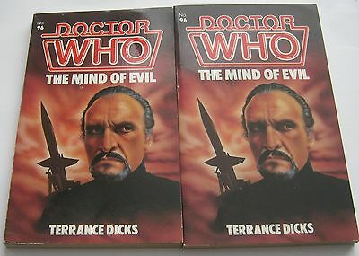 BOTH EDITIONS of Doctor Who The MIND OF EVIL by Terrance Dicks 1985 TARGET