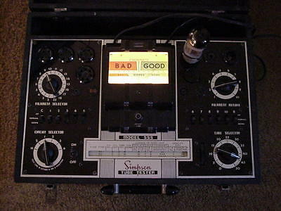 SIMPSON 555 Tube Tester VG+++ checked, works