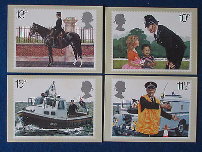 Post Office Postcards -Set of 4 - 1979 - Police