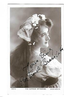 Theatre Actress. Gertrude Branscombe. Signed. Autograph. R/P.