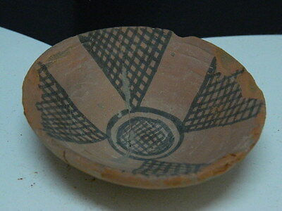 "Ancient Indus Valley Teracotta Painted Plate C.2500 Bc   """"t15243"""""