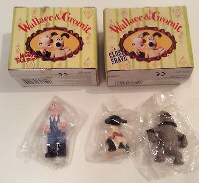 Wallace and Gromit mini collectables- Wallace, Shaun and Preston BNIP