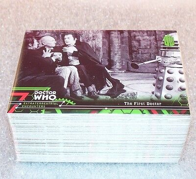 DOCTOR WHO Extraterrestrial  Encounters Complete Base Set  100 cards   Dr. Who
