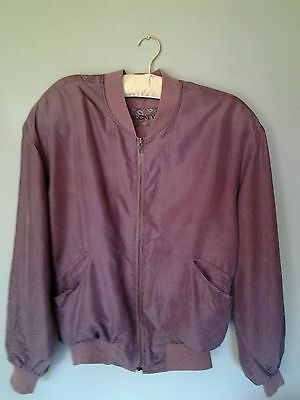 Vintage silk lilac bomber jacket , could fit a size 8,10,12,14,oversized