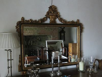 Antique mirror large gold painted