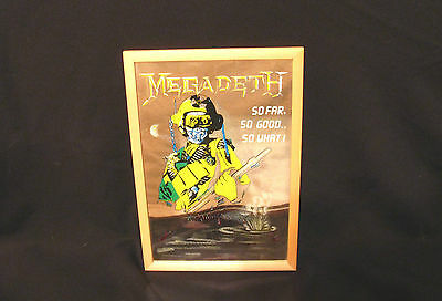 "Megadeth Vintage Mirror Uk Import  ""so Far....so Good....so What!!!"