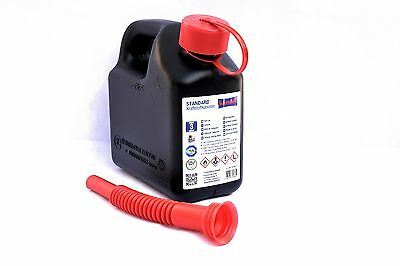 Huenersdorff Fuel Can 2 Litre Ideal For Carrying Small Amounts Of Petrol Diesel