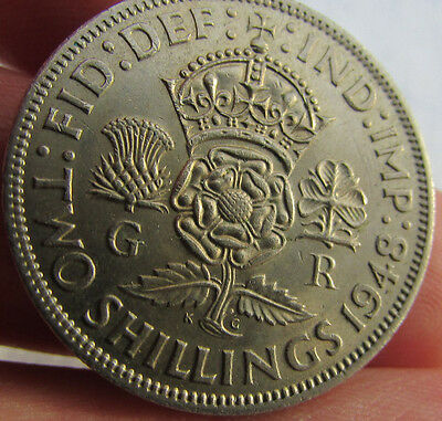 1948 George VI Two Shillings. Uncirculated.