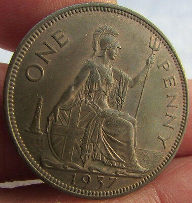 1937 George VI Penny. Uncirculated.