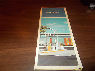 1971 Hess New Jersey Vintage Road Map