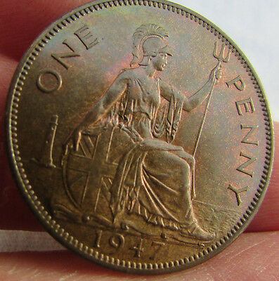 1947 George VI Penny. Uncirculated.