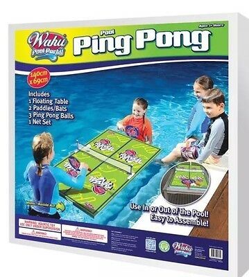 Wahu Pool Party Ping Pong Table Tennis Pool Toy Brand New