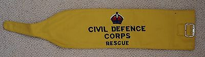 British Civil Defense Rescue armband, King's Crown and 1954 date stamp