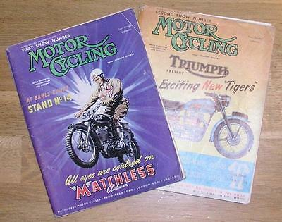Motor Cycle magazines Special Show Editions 2 November 1953 [two editions[