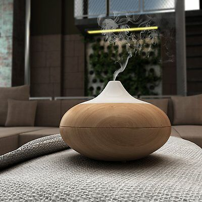 Homdox Electric Aromatherapy Essential Oil Aroma Diffuser Humidifier WOOD GRAIN