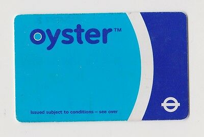Early Oyster Card for transport London Underground WHITE roundel - very,very RRR