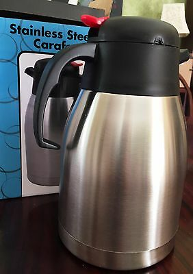 Stainless Steel Vacuum Insulated 1.5 Liter Coffee Pot/Carafe New in Box