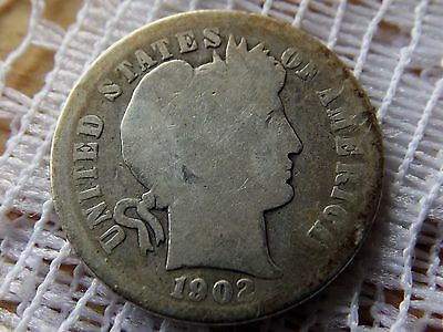 1902 S Barber Dime 10 Cent  *  Early Silver Coin *