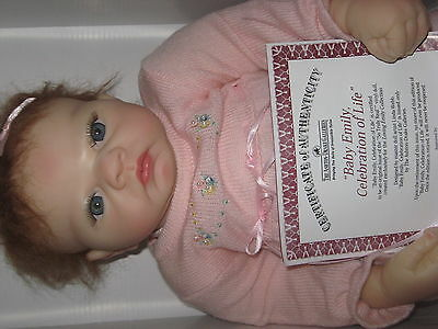Ashton Drake Baby Emily, Celebration of Life 1st Issue Vinyl Doll