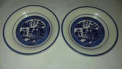 Arklow Pottery Ireland Willow Pattern Saucers x2 6""