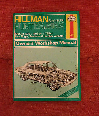 HILLMAN HUNTER MINX Haynes Workshop Manual 1966-79,