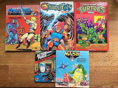 Collection Of Vintage Children's Annuals Books He-Man Thundercats MASK