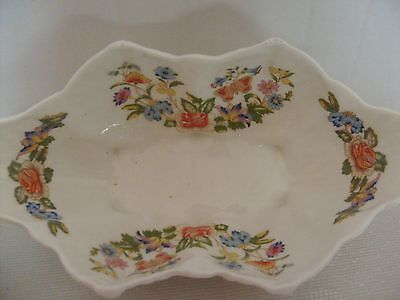 """Shell Shaped Aynsley China Dish """"cottage Garden"""" + Other Shell Dish"""