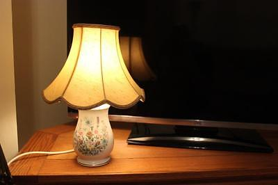 Good Quality Aynsley Table Lamp Wild Tudor Pattern   - All In Good Working Order