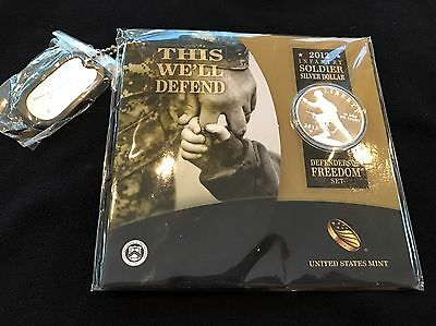 US Mint 2012 Infantry Soldier Silver Dollar Defenders of Freedom Set