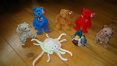 Collection of original TY BEANIES Toys