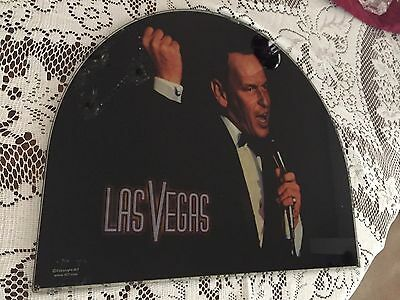 Frank Sinatra on Glass from SANDS HOTEL when destroyed all S.M. Las Vegas