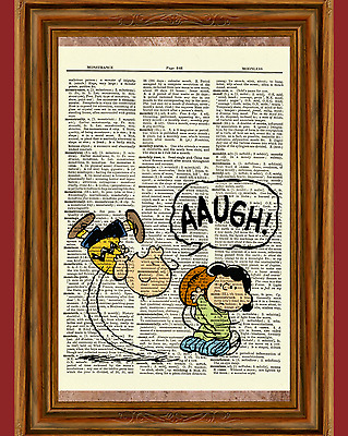 Charlie Brown and Lucy Dictionary Art Print Picture Poster Peanuts Football