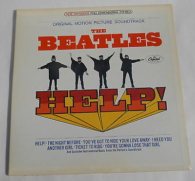 BEATLES HELP! 1965 STEREO 1st press CAPITOL RECORDS factory SEALED LP  NICE!
