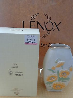 Lenox American By Design Poppies Vase 8.25 Inches NIB 820706 BEAUTIFUL GIFT
