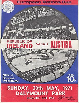 1971 Ireland v Austria Lansdowne Road Dublin Eire Republic European Nations Cup