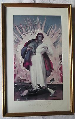 Pietro Annigoni 1962 Print of The Immaculate Heart of Mary