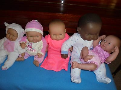 Berenguer  doll  LOT of 5 Dolls Life Like