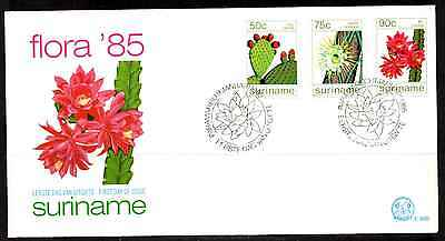 Suriname 1985 Fdc – Flowers #a0968
