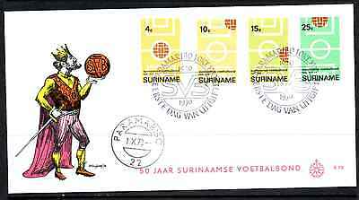 Suriname 1970 Fdc – 50Th Anniversary Of Football Federation #a0377