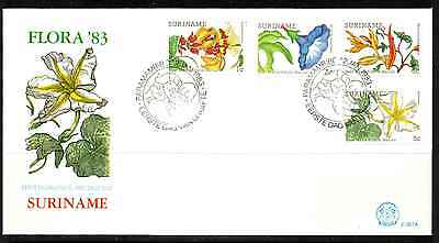 Suriname 1983 Fdc – Flowers #a0155