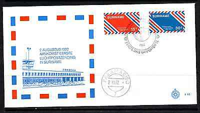 Suriname 1972 Fdc – 50Th Anniversary Of Airmail #a0198