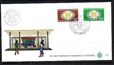 Suriname 1970 Fdc – 20 Years Of Secondary Education #a0379