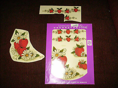 Vintage Meyercord  Decals 1530 G  Strawberries