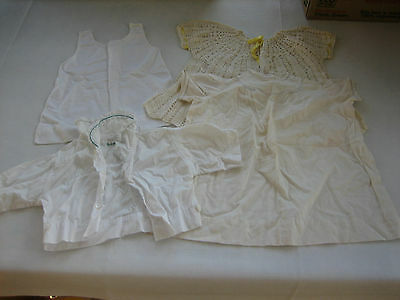 4 Vintage Toddler, Baby Clothes - 2 Dresses, 1 Slip, MY LAMB Blouse