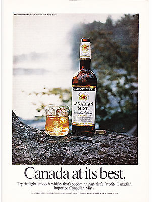 Original Print Ad-1974 CANADIAN MIST WHISKY-Kejimujik National Park, Nova Scotia