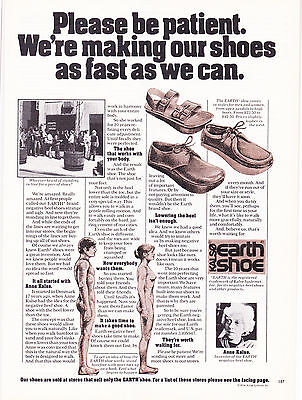 Original Print Ad-1974 We're making our shoes as fast as we can-KALSO EARTH SHOE