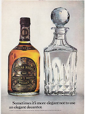 Original Print Ad-1975 CHIVAS REGAL BLENDED SCOTCH WHISKY-Use Elegant Decanter?
