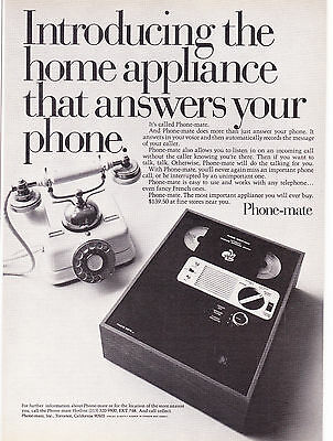 Original Print Ad-1973 PHONE MATE ANSWERING MACHINE-Does more than answer phone
