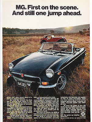Original Print Ad-1974 MG-First On The Scene. And Still One Jump Ahead. Color Ad