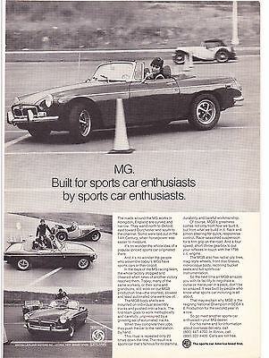 Original Print Ad-1973 British Motors MGB-Built FOR/BY Sports Car Enthusiasts.